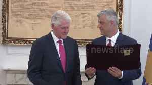 "20 years after stopping ethnic cleansing, Bill Clinton awarded ""Order of Freedom"" medal in Kosovo [Video]"