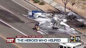 Pilot suffers serious burns in small plane crash near Deer Valley Airport [Video]