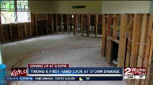 Mike Collier takes a look at storm damage [Video]