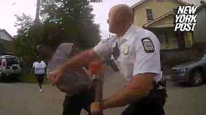 Dad gets KO'ed by cop for failing to 'back up' [Video]
