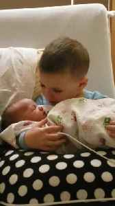 Adorable Little Boy Sings Lullaby to Newborn Baby Sister [Video]