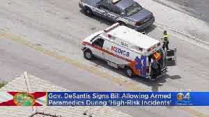 New Law Permits Paramedics To Carry Firearms In High Risk Situations [Video]