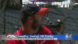 Broncos Test Their Swings At Coors Field For A Good Cause [Video]