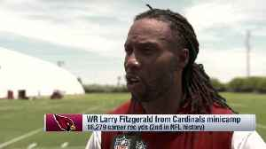 Arizona Cardinals wide receiver Larry Fitzgerald on rookie quarterback Kyler Murray: He's been 'in the driver's seat' running he [Video]