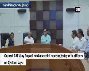 Cyclone Vayu CM Vijay Rupani holds meeting with officials [Video]