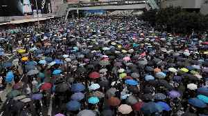 News video: Hong Kong protesters block access to government headquarters