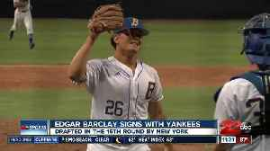Edgar Barclay signs with the Yankees [Video]