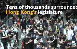 News video: Hong Kong protesters force delay in extradition bill debate