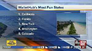 News video: Florida ranked No. 2 'Most Fun State in America'