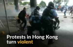 News video: Protests in Hong Kong descend into violent chaos