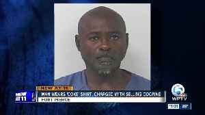 Man wearing 'Coke' shirt charged with selling cocaine [Video]