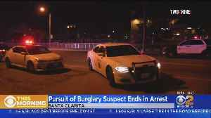 Burglary Suspect Arrested After Leading High-Speed Chase [Video]