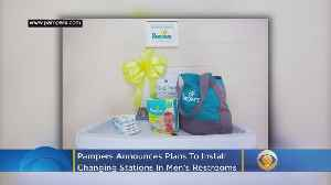 News video: Pampers Pledges To Install 5,000 Baby Changing Tables In Men's Restrooms Across The U.S.