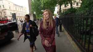 Carrie Symonds departs Boris Johnson's Tory leadership launch [Video]