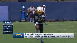 First look at Los Angeles Chargers running back Melvin Gordon in his new jersey number at practice [Video]