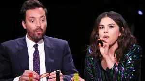 Selena Gomez Takes on the 'Hot Ones' Challenge With Jimmy Fallon | Billboard News [Video]