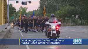 Graduating CHP Cadets Run to Peace Officers Memorial [Video]