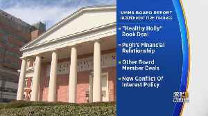 News video: Review Finds UMMS Deals Were Not Competitively Bid Or Fully Vetted, Faults Former CEO For Healthy Holly Deal