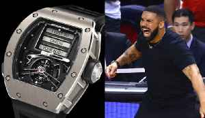 Drake SHOWS OFF $750k SEX WATCH During NBA Finals! [Video]