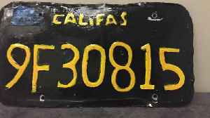 Fake `Califas` License Plate on Big Rig Leads to DUI Arrest [Video]