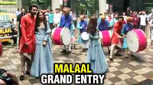 Malaal | Sharmin Segal Meezaan Jaffrey Grand Entry & Dance On Dhol | Udhal Ho Song Launch [Video]