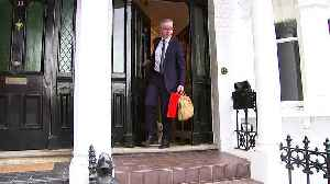 Michael Gove ignores leadership questions as he leaves home [Video]
