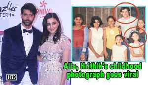 Alia, Hrithik's childhood photograph goes viral [Video]