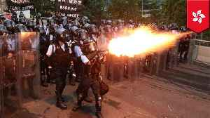News video: Police fire rubber bullets at Hong Kong extradition protesters