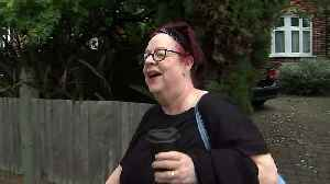 News video: Jo Brand bats away questions on her battery acid 'joke'