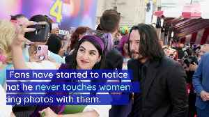 Keanu Reeves Is Being Praised for How He Takes Photos With Women [Video]