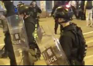 Demonstrators Face Off Against Police in Riot Gear as Hong Kong Protests Continue [Video]