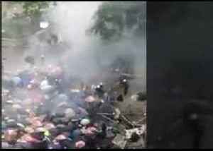 Police Outside Legislative Council Fire Tear Gas at Protesters [Video]
