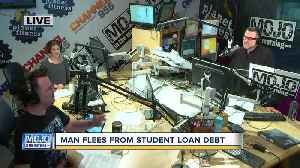 Discussing a man who fled from student loan debt with Mojo in the Morning [Video]