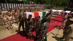 Funeral for Indian soldiers killed in rebel ambush in Kashmir [Video]