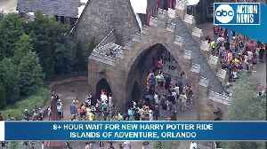 10 hour wait for new Harry Potter ride [Video]