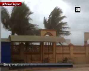 Strong winds and dust hit Somnath temple ahead of Cyclone Vayu [Video]