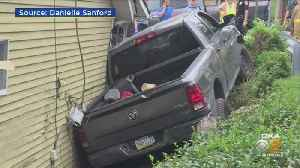 Pickup Truck Collides With House In Penn Hills [Video]