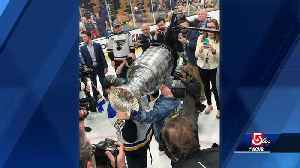 News video: Blues superfan with life-threatening immune disease lifts Stanley Cup