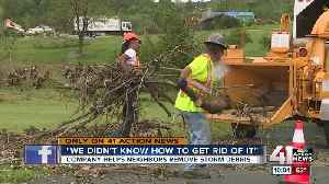 KC company helps tornado victims with free debris clean up [Video]