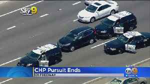 Midday Pursuit Ends In Middle Of 101 Freeway [Video]