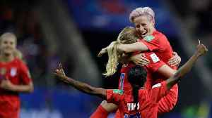 News video: Megan Rapinoe Defends Women's US Soccer Team