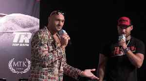 News video: Tyson Fury threatens fan with a 'smack' for singing '10 German Bombers' chant