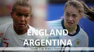 News video: England v Argentina: Women's World Cup match preview