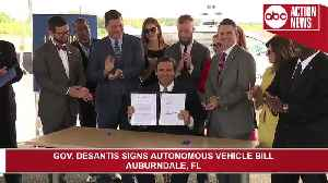 Gov. DeSantis signs bill expanding testing and use of self-driving vehicles in Florida [Video]