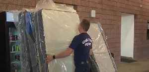 Local fire stations receive mattresses [Video]