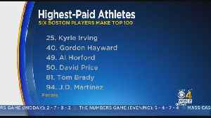 Boston Sports Stars Land On Forbes List Of Highest-Paid Athletes [Video]