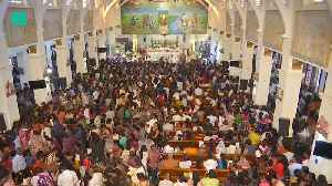 Sri Lankans Return To Bombed Church [Video]