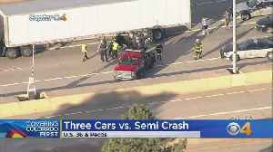 Car Ends Up Upside Down Under Semi On Highway 36; Driver Not Seriously Hurt [Video]