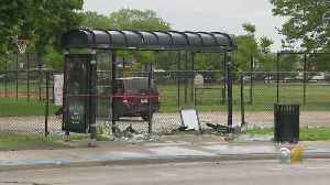 5 Injured When Car Smashes Into Bus Stop After Crash In Calumet Heights [Video]