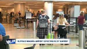 News video: Buffalo Niagara Airport expecting a record breaking summer travel season